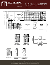 schult modular home floor plans schult independence 6028 376 excelsior homes west inc