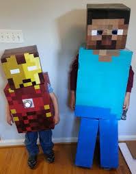 minecraft steve costume minecraft costumes steve and ironman crafts