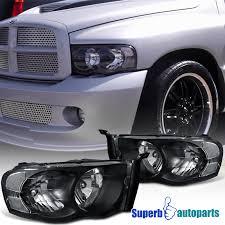 02 dodge ram headlights 2002 2005 dodge ram 1500 2500 headlight ls black