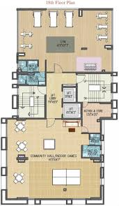 Floor Plan For Gym 1705 Sq Ft 3 Bhk 3t Apartment For Sale In Onex Privy Kalighat Kolkata