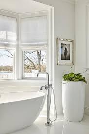 Bathtub Planter Tall Glossy White Bathroom Planter Transitional Bathroom