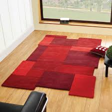 Modern Rugs Uk by Abstract Collage Rugs In Red Free Uk Delivery The Rug Seller