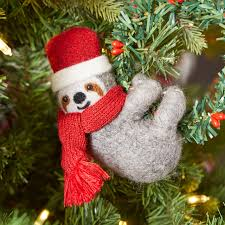 sloth wool felted ornament pier 1 imports