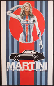 vintage martini illustration martini racing canvas acrylic painting f1 4 ever young