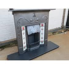 victorian to edwardian fireplace original antique cast iron