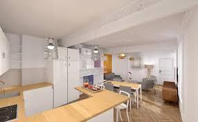 cuisine appartement chambre avec salle de bain ouverte 5 r233novation s233jour