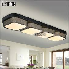 Flush Mounted Lighting Fixtures Rectangle Modern Ceiling Lights Bedroom Black Shade Flush Mounted