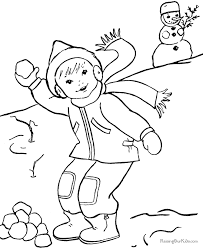 free printable winter coloring pages coloring home