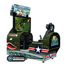 sit down arcade cabinet blazing angels squadrons of wwii primetime amusements