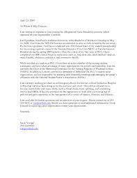 Perioperative Nurse Resume Cover Nursing Resume Cover Letter Examples