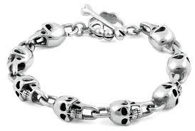stainless bracelet images Stainless steel phantom skull bracelet jpg