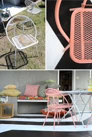 3 Vintage Furniture Makeovers For by Mid Century Patio Furniture Makeover The Vintage Rug Shop The