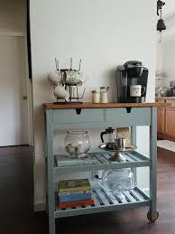 furniture ikea kitchen storage table rolling vanity cart teal