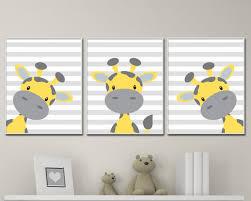 Giraffe Nursery Decor Baby Giraffe Nursery Yellow And Grey Nursery Decor