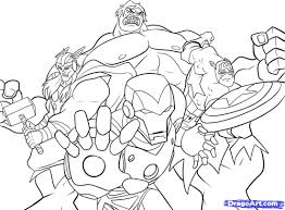 the avengers superheroes coloring page for kids wallpaper in free