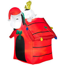 snoopy dog house christmas snoopy woodstock airblown christmas decoration