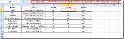 formulas in excel 2010 cells