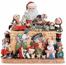 fitz floyd santa workshop cookie jar cookie jars