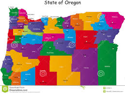 Map Oregon Washington State Stock by State Of Oregon Stock Vector Image Of Oregon Administrative