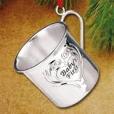 2016 reed u0026 barton baby u0027s first christmas cup sterling ornament