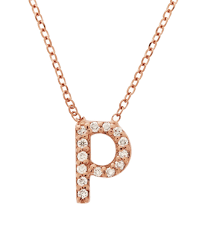 kc designs rose gold diamond letter p necklace in pink lyst