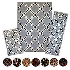 Prism 3 Piece Rug Set Multi Color Contemporary Area Rugs Ebay