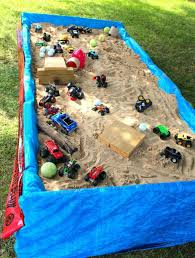 monster jam truck party supplies monster truck sensory table we took two pallets and nailed them