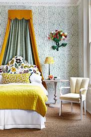 Green Dotty Bedroom Wallpaper Design Ideas Houseandgardencouk - Bedroom wallpaper design ideas