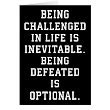 Customize Meme - inspirational words challenge vs defeat card diy individual