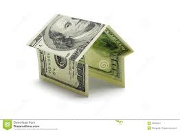 hundred us dollar note in shape of house stock image image 16243991