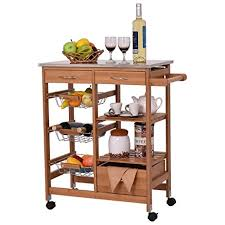 island trolley kitchen bamboo rolling island trolley kitchen cart storage
