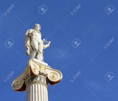 neoclassical statue of ancient greek god of the sun apollo