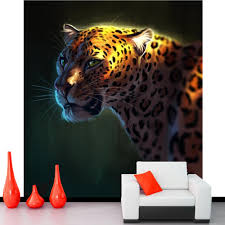 popular big cat head buy cheap big cat head lots from china big papel de parede big cat leopards art head animals photo wallpaper living room tv wall