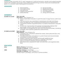 clothing sales resume sales associate job description retail