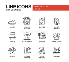 laundry line design laundry line design icons set stock vector illustration of