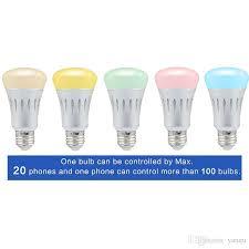 alexa compatible light bulbs smart wifi led light bulbs e27 dimmable colors control works control