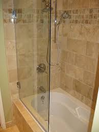 Glass Doors For Tub Shower Enchanting Bathroom Trends To Frameless Tub Shower Door Model