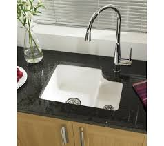 Ceramic Glossy White Kitchen Sink  Bowl Only  Includes - Kitchen sinks ceramic