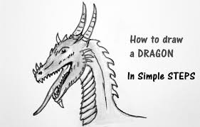 draw dragon step step beginners kids