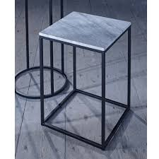 Marble Side Table Slimline Retro Marble Side Tables With Black Frame Retro