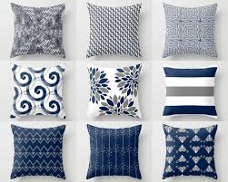 blue and gray sofa pillows pillows design throw pillow cover covers navy white grey accent