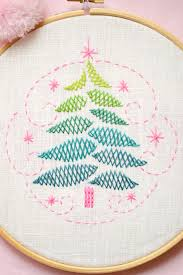 christmas tree christmas diy gift hand embroidery pattern by
