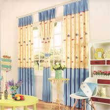 Kids Playroom by Cartoon Patterns Kids Playroom Curtains Cotton