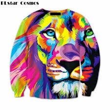 lion print fashion men womens 3d animal lion print sweatshirt plus size 4xl