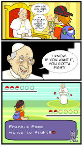Pokemon Battle Meme - pope francis would like to battle fake pokémon battles know