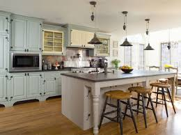 Retro Style Kitchen Cabinets Kitchen Adorable L Shape Retro Country Kitchen Decoration Using