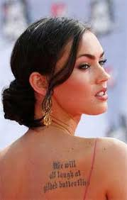 megan fox tattoos with pictures and explanation