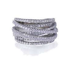 silver hand rings images Big size women 39 s rings rhodium plated sterling silver intertwined jpg