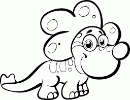 baby dinosaur coloring pages dotting