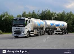 volvo 500 truck rajamaki finland july 2 2016 white volvo fh 500 valio milk